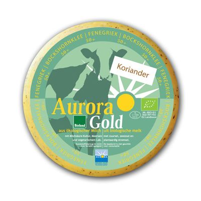 Ronde Hollandse Fenegriek-Korianderkaas, Aurora Gold, ± 4