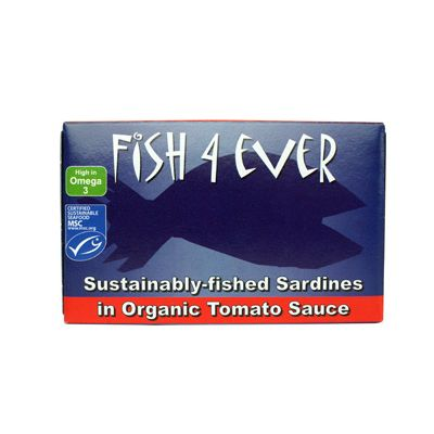 Sardines in tomatensaus van Fish 4 Ever, 10x 135 gr