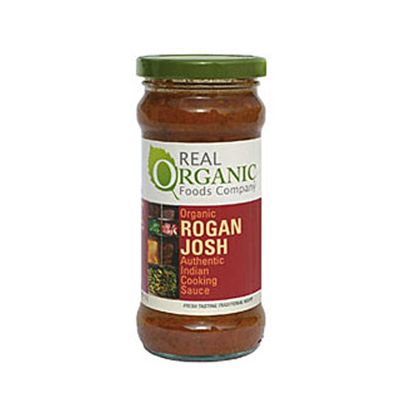 Rogan Josh Cooking Sauce van Real Organic, 6x 350 gr