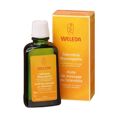 Massageolie calendula van Weleda, 1x 100ml