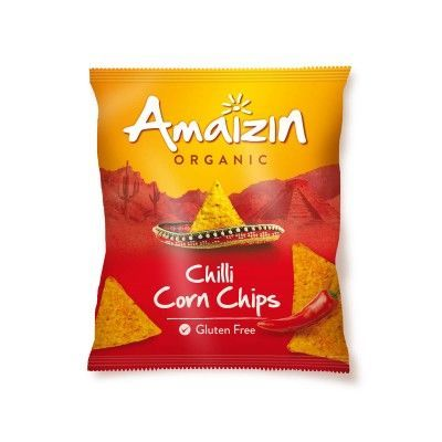Corn chips chili van Amaizin, 16 x 75 g