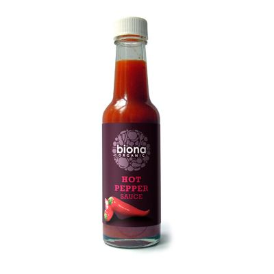 Hot pepper-sauce (tobasco) van Biona, 6x 140 ml