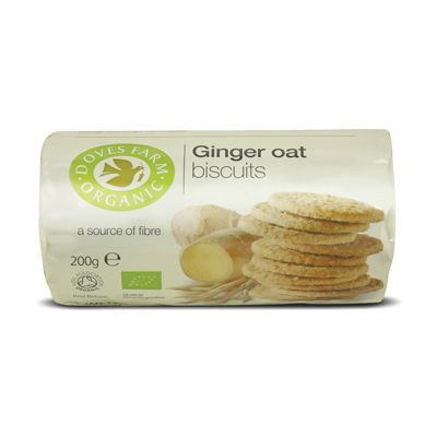 Biscuits Ginger Oat van Doves Farm, 12 x 200 gram