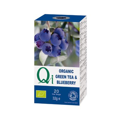 Green tea blueberry Van Qi, 6x 20 blt