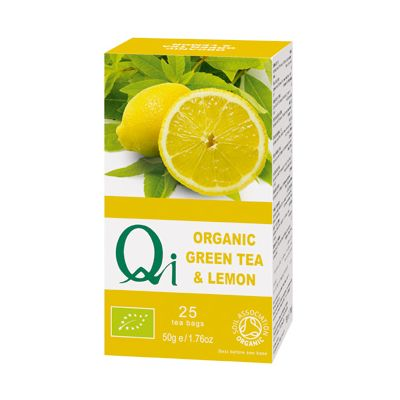 Green Tea Met Lemon van Qi, 6x 25 blt