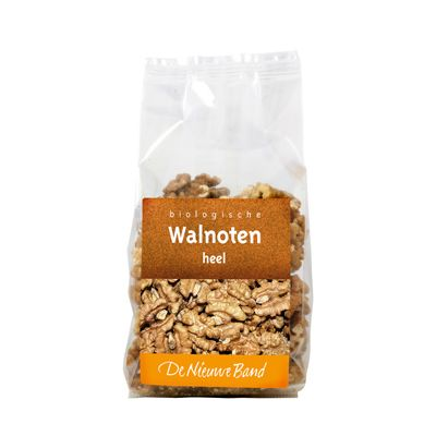 Walnoten 8 x 150 gr De Nieuwe Band. Raw Food!