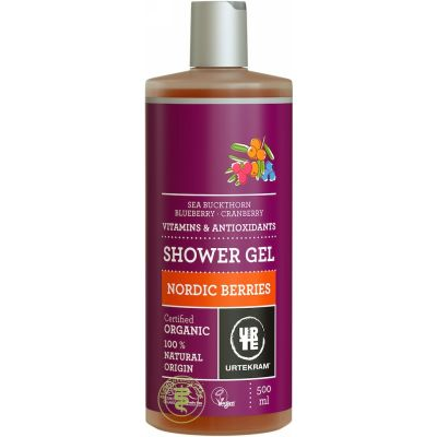 Nordic berries shower gel van Urtekram, 1 x 500 ml