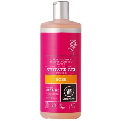 Rose shower gel van Urtekram, 1 x 500 ml
