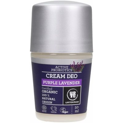 Purple lavender cream deodorant van Urtekram, 1 x 50 ml