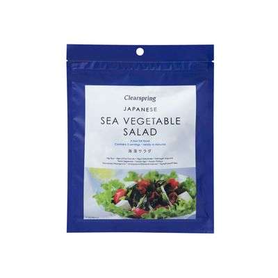 Sea vegetable salad (Japanese) van Clearspring, 6x 25 g