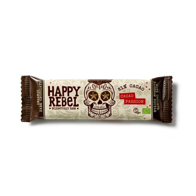 Chocolade-bar cacao passion van Happy Rebel, 24 x 38 g