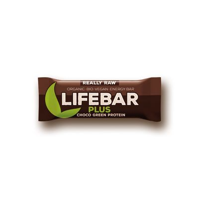 Lifebar Plus Chocolade Green Protein van Lifefood (Lifebar plus