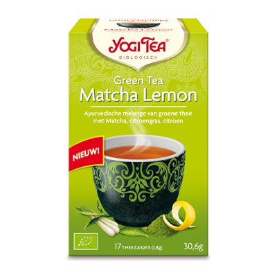 Green matcha lemon van Yogi Tea, 6x 17 blts