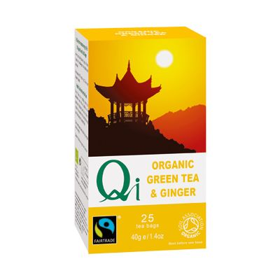 Green tea ginger van Qi, 6 x 25 builtjes