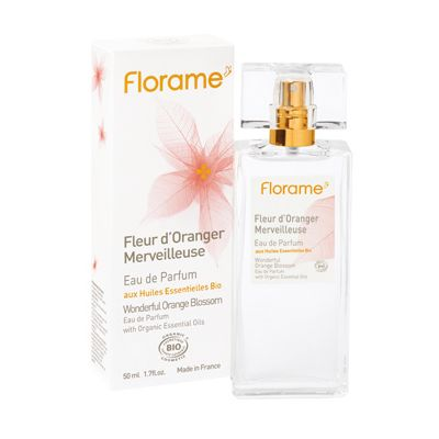 Eau de parfum orange blossom van Florame, 1x 50 ml.