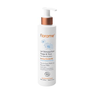 Face and eyes make-up remover van Florame, 1 x 200 ml