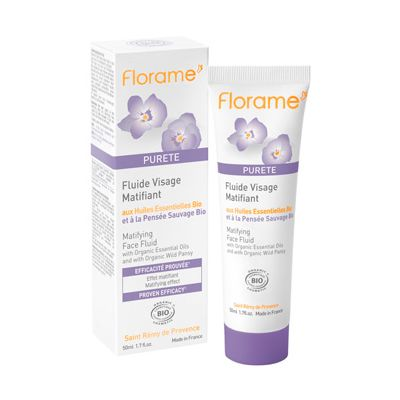 Matifying fluid van Florame, 1 x 50 ml