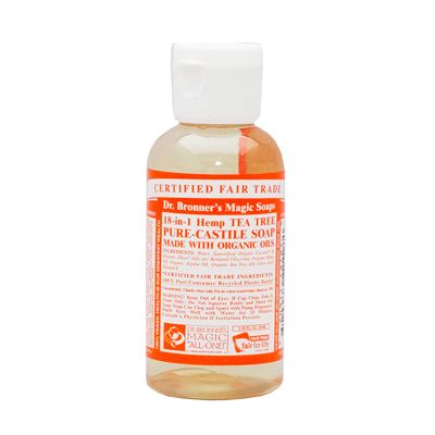 Liquid soap teatree van dr.Bronners, 1x 59ml
