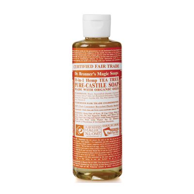 Liquid soap teatree van dr.Bronners, 1x 236ml