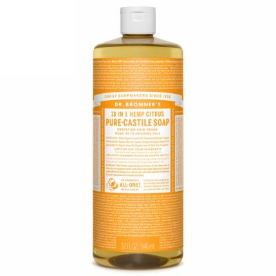 Liquid soap citrus orange van dr.Bronners, 1x 944ml