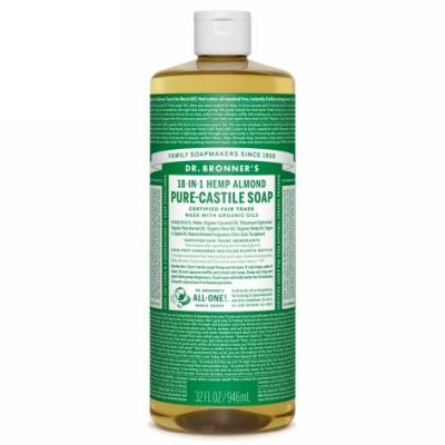 Liquid soap almond van dr.Bronners, 1x 944ml