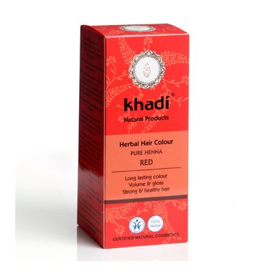 Hair colour pure henna red van Khadi, 1x 100 g
