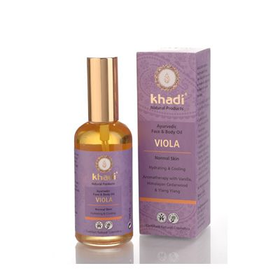 Face & body oil viola van Khadi, 1x 100 ml