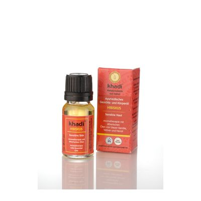 Mini face & body oil hibiscus van Khadi, 1x 10 ml