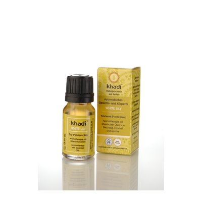 Mini face & body oil white lily van Khadi, 1x 10 ml