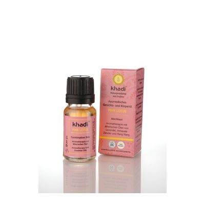 Mini face & body oil pink lotus van Khadi, 1x 10 ml