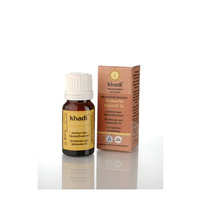 Mini 10 herbs cellulite body oil van Khadi, 1x 10 ml