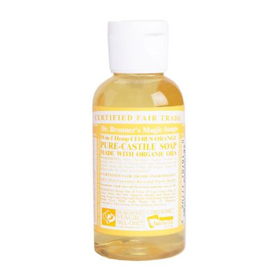 Liquid soap citrus orange van Dr.Bronners, 1 x 60 ml