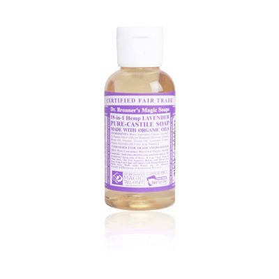 Liquid soap lavender van Dr.Bronners, 1 x 60 ml