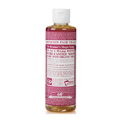 Liquid soap rose van Dr.Bronners, 1 x 240 ml