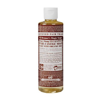 Liquid soap eucalyptus van Dr.Bronners, 1 x 240 ml