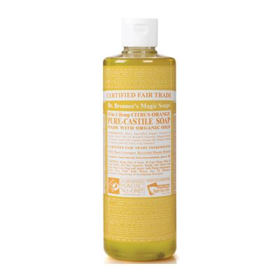 Liquid soap citrus orange van dr.Bronners, 1x 475ml