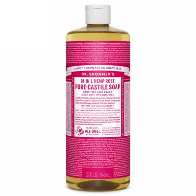 Liquid soap rose van dr.Bronners, 1x 945ml