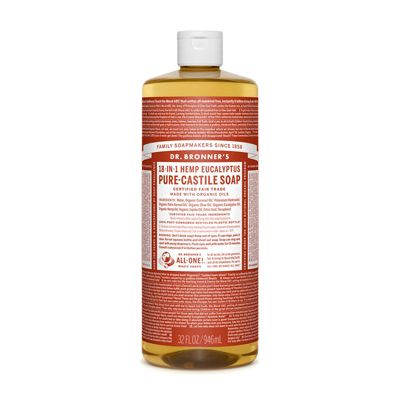 Liquid soap eucalyptus van Dr.Bronners, 1 x 945 ml