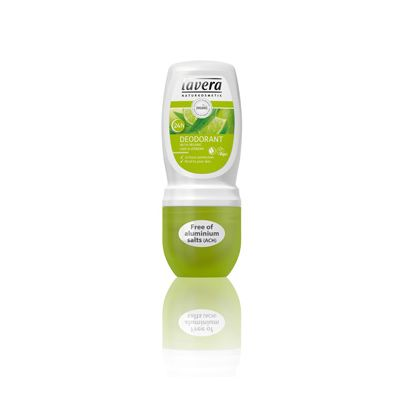 Deodorant roll-on lime-verbena van Lavera, 50 ml.