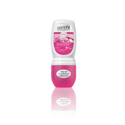 Deodorant roll-on wild rose van Lavera, 50 ml.