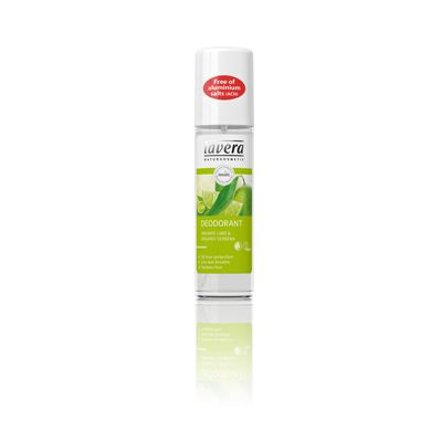 Deodorant spray lime verbena van Lavera, 75 ml.