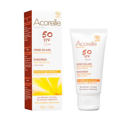 Face sunscreen spf 50 van Acorelle, 1 x 50 ml