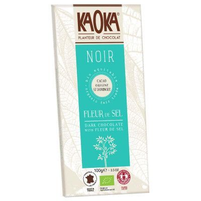Choc bar dark seasalt 70% van Kaoka, 17 x 100 g