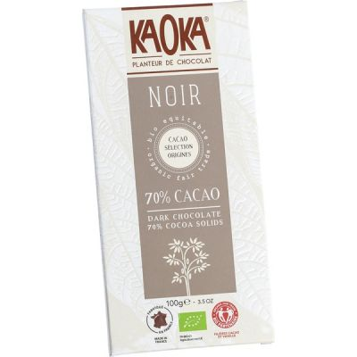Choc bar dark 70% van Kaoka, 17 x 100 g