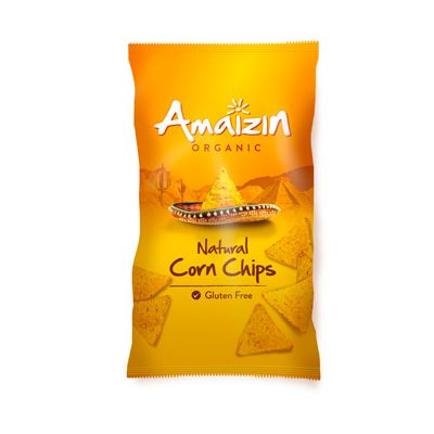 Maischips naturel van Amaizin, 10 x 250 g