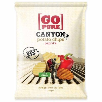 Canyon chips paprika van Go pure, 6 x 125 g