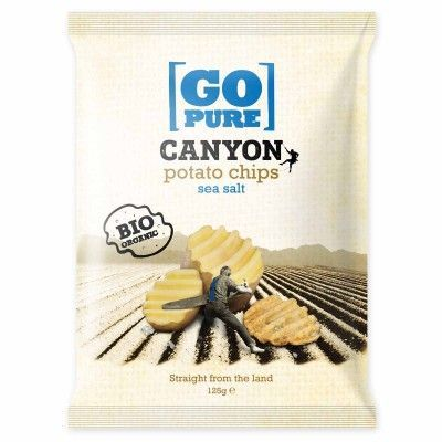 Canyon chips salt van Go pure, 6 x 125 g