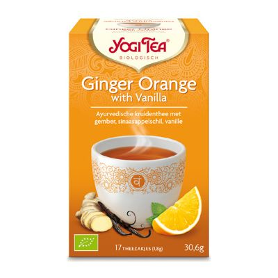 Ginger-Orange Vanilla Tea van Yogi Tea, 6x 15 blt
