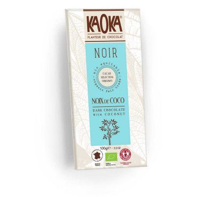 Choc bar dark 58% coconut van Kaoka, 17 x 100 g