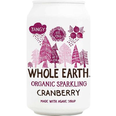 Sparkling cranberry van Whole Earth, 24 x 330 ml